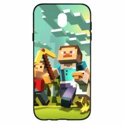 Чехол для Samsung J7 2017 Minecraft1 - FatLine