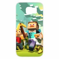 Чехол для Samsung S6 Minecraft1 - FatLine