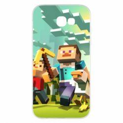 Чехол для Samsung A7 2017 Minecraft1 - FatLine