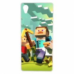 Чехол для Sony Xperia X Minecraft1 - FatLine