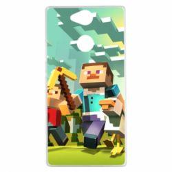 Чехол для Sony Xperia XA2 Minecraft1 - FatLine