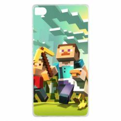 Чехол для Huawei P8 Minecraft1 - FatLine