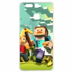 Чехол для Huawei P9 Minecraft1 - FatLine