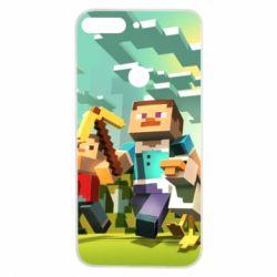 Чехол для Huawei Y7 Prime 2018 Minecraft1 - FatLine