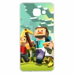 Чехол для Samsung A5 2016 Minecraft1 - FatLine