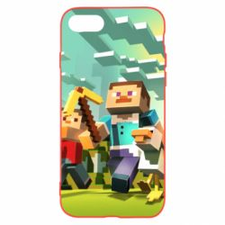 Чехол для iPhone 8 Minecraft1 - FatLine