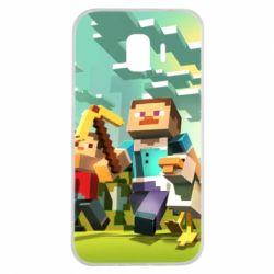 Чехол для Samsung J2 2018 Minecraft1 - FatLine