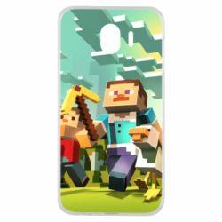Чехол для Samsung J4 Minecraft1 - FatLine