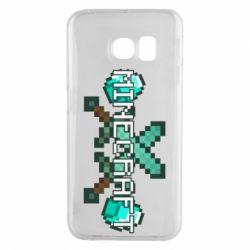 Чохол для Samsung S6 EDGE Minecraft алмазний меч