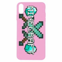 Чохол для iPhone Xs Max Minecraft алмазний меч