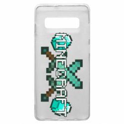 Чохол для Samsung S10+ Minecraft алмазний меч