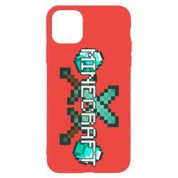 Чохол для iPhone 11 Pro Max Minecraft алмазний меч