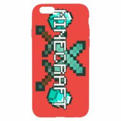Чохол для iPhone 6/6S Minecraft алмазний меч