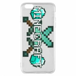 Чохол для iPhone 6 Plus/6S Plus Minecraft алмазний меч