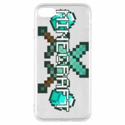 Чохол для iPhone 7 Minecraft алмазний меч