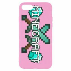 Чохол для iPhone 8 Minecraft алмазний меч