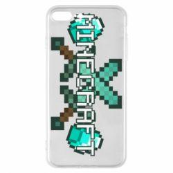 Чохол для iPhone 8 Plus Minecraft алмазний меч