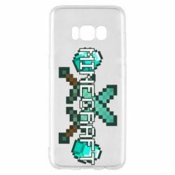 Чохол для Samsung S8 Minecraft алмазний меч