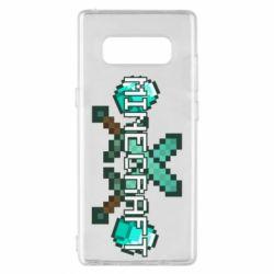 Чохол для Samsung Note 8 Minecraft алмазний меч