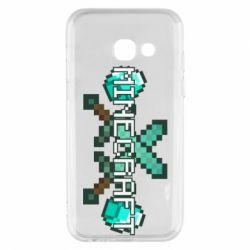 Чохол для Samsung A3 2017 Minecraft алмазний меч