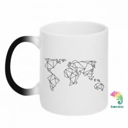 Кружка-хамелеон Minimalism world map