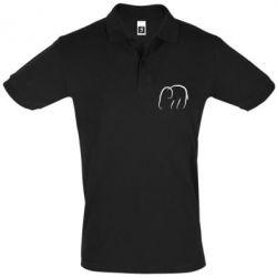Мужская футболка поло Minimalistic elephant