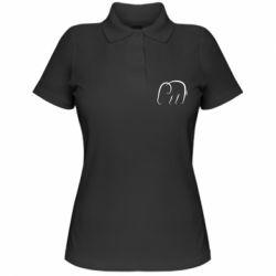 Женская футболка поло Minimalistic elephant