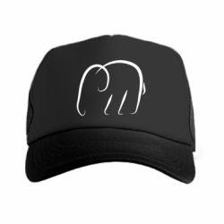 Кепка-тракер Minimalistic elephant