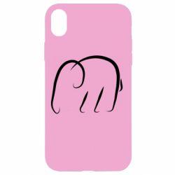 Чехол для iPhone XR Minimalistic elephant