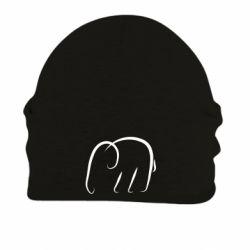 Шапка на флисе Minimalistic elephant
