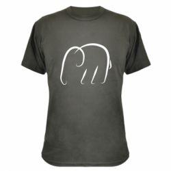 Камуфляжная футболка Minimalistic elephant