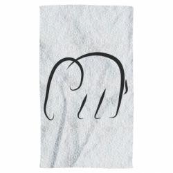 Полотенце Minimalistic elephant