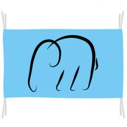 Флаг Minimalistic elephant
