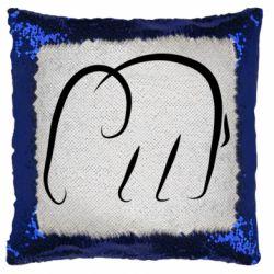 Подушка-хамелеон Minimalistic elephant