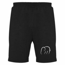 Мужские шорты Minimalistic elephant