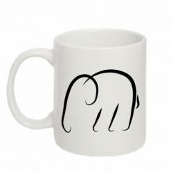 Кружка 320ml Minimalistic elephant