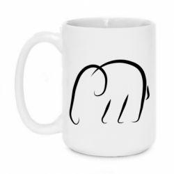 Кружка 420ml Minimalistic elephant