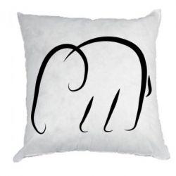 Подушка Minimalistic elephant