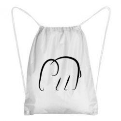 Рюкзак-мішок Minimalistic elephant