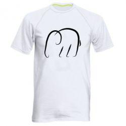 Мужская спортивная футболка Minimalistic elephant