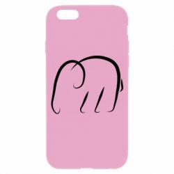 Чехол для iPhone 6/6S Minimalistic elephant