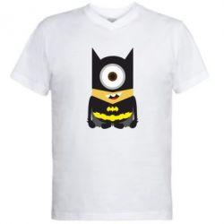 Мужская футболка  с V-образным вырезом Minion Batman - FatLine