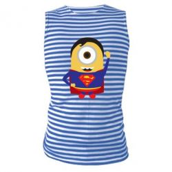 Майка-тельняшка Minion Superman