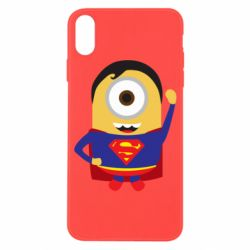 Чохол для iPhone X/Xs Minion Superman