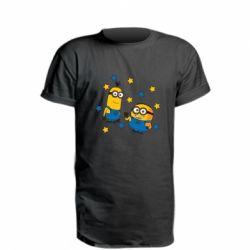 Подовжена футболка Minions and stars