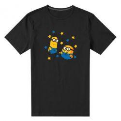 Чоловіча стрейчева футболка Minions and stars