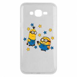 Чохол для Samsung J7 2015 Minions and stars
