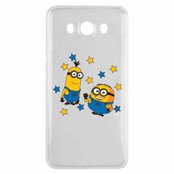 Чохол для Samsung J7 2016 Minions and stars