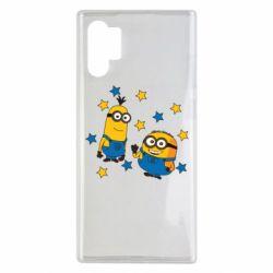 Чохол для Samsung Note 10 Plus Minions and stars