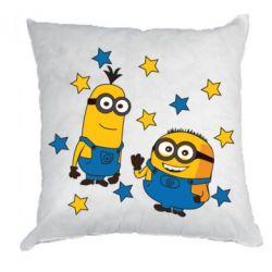 Подушка Minions and stars